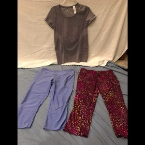 Eddie Bauer work out pants Gap top 3 for 1